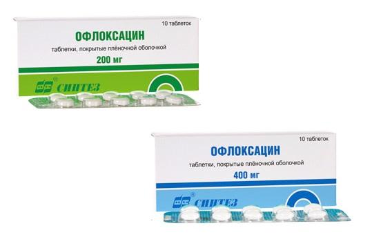 Офлоксацин при простатите