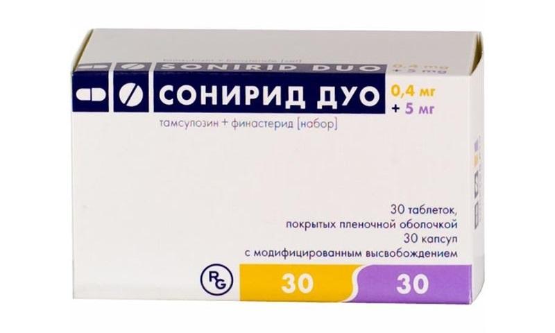 Сонирид дуо лекарство от простатита и аденомы